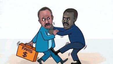 مناوي يطالب الحكومة بدفع 700 مليون دولار فوراً ... كاريكاتير عمر دفع الله